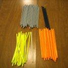 "KNEX Assorted Rods 7-1/2"" - 1 White, 5 black, 20 Orange, 35 gray, 21 flex Neon Yellow"