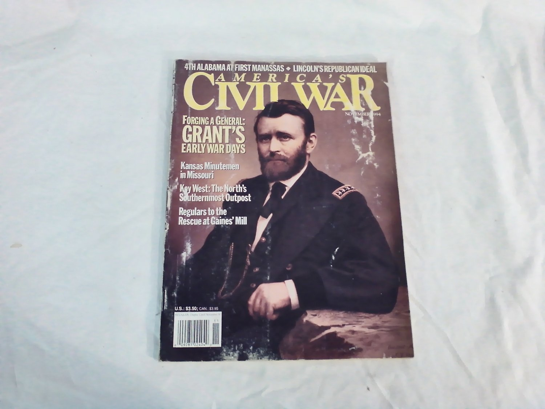 America's Civil War Magazine November 1994 Vol 7 No 5 Grant's Early War Days Kansas Minutemen (G1)