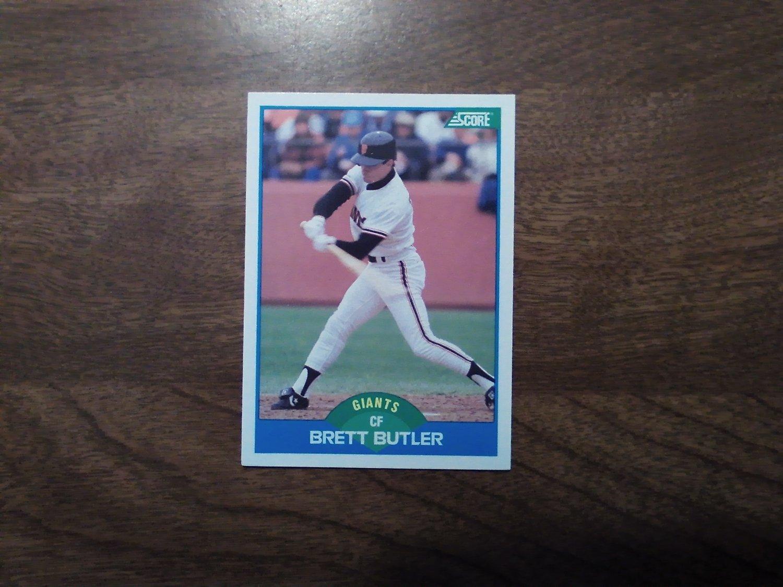 Brett Butler San Francisco Giants 216 1989 Score Baseball
