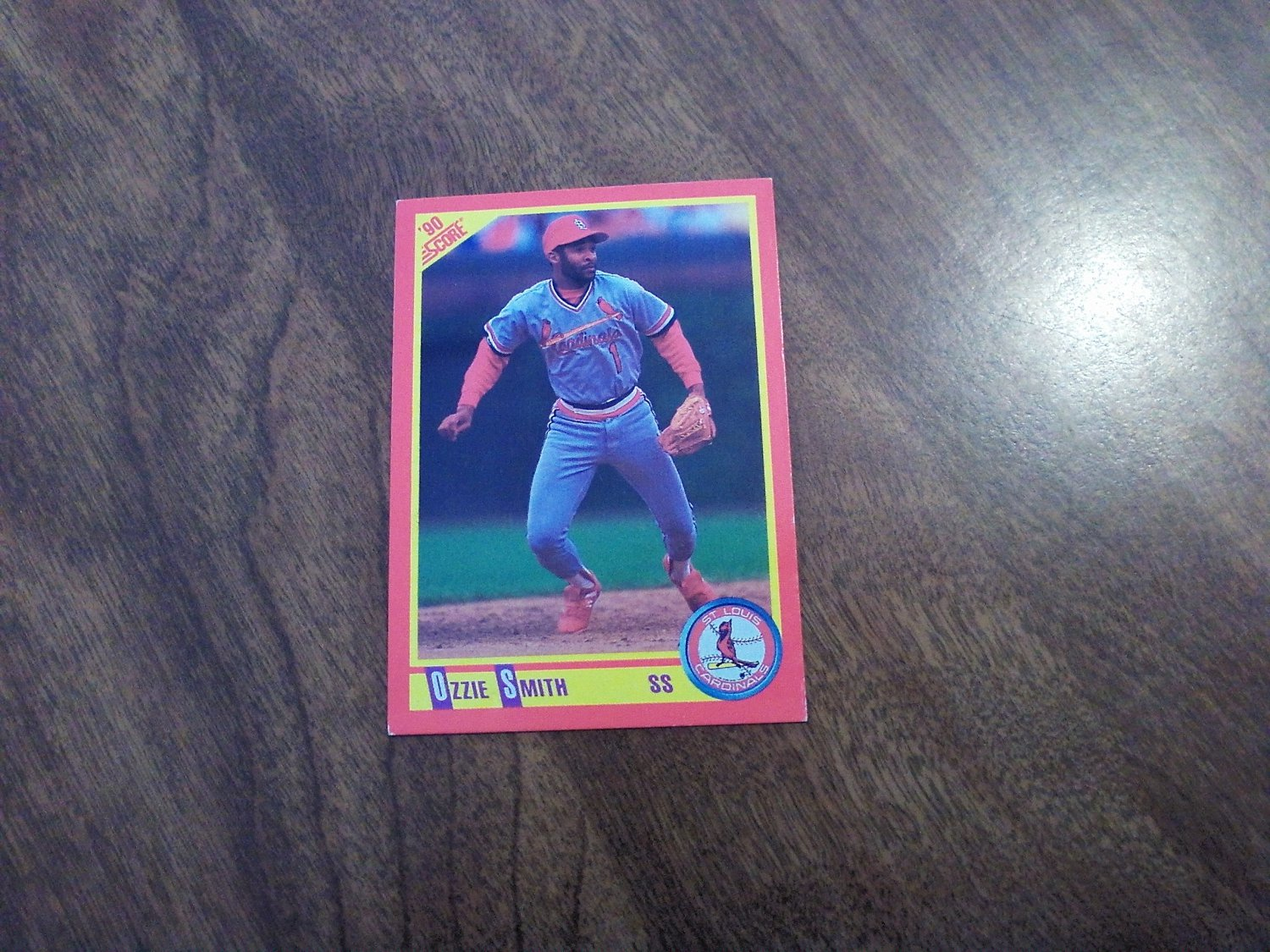 Ozzie Smith St Louis Cardinals 285 1990 Score Baseball Card