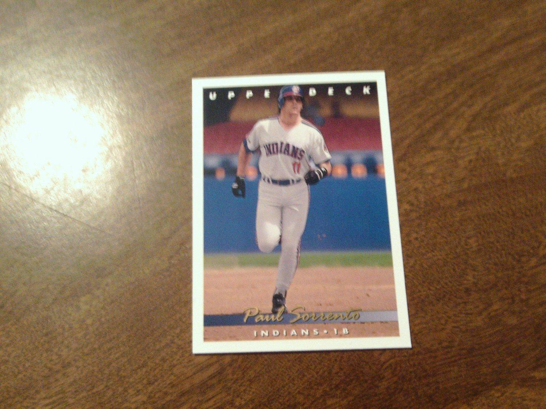 Paul Sorrento Cleveland Indians 196 1993 Upper Deck