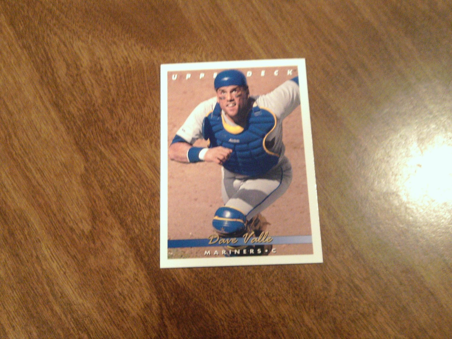 Dave Valle Seattle Mariners 100 1993 Upper Deck Baseball Card