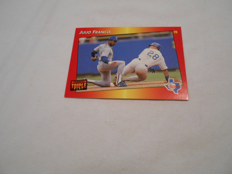 Julio Franco Texas Rangers 83 1992 Donruss Triple Play Leaf