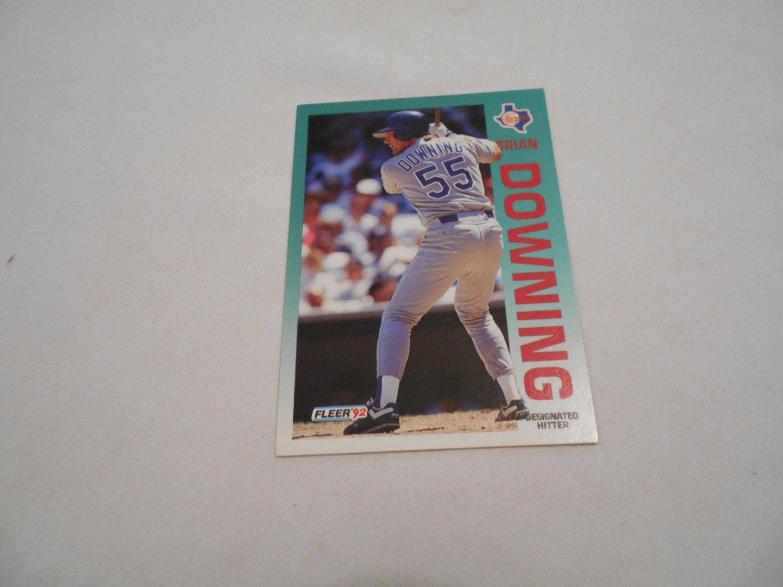 Brian Downing Texas Rangers 302 1992 Fleer Baseball Card