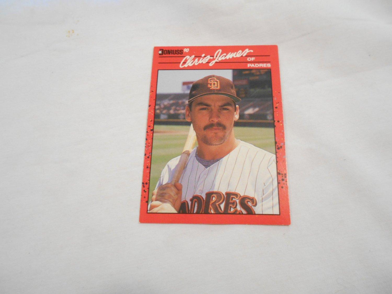 Chris James San Diego Padres 323 1990 Donruss Leaf Baseball Card