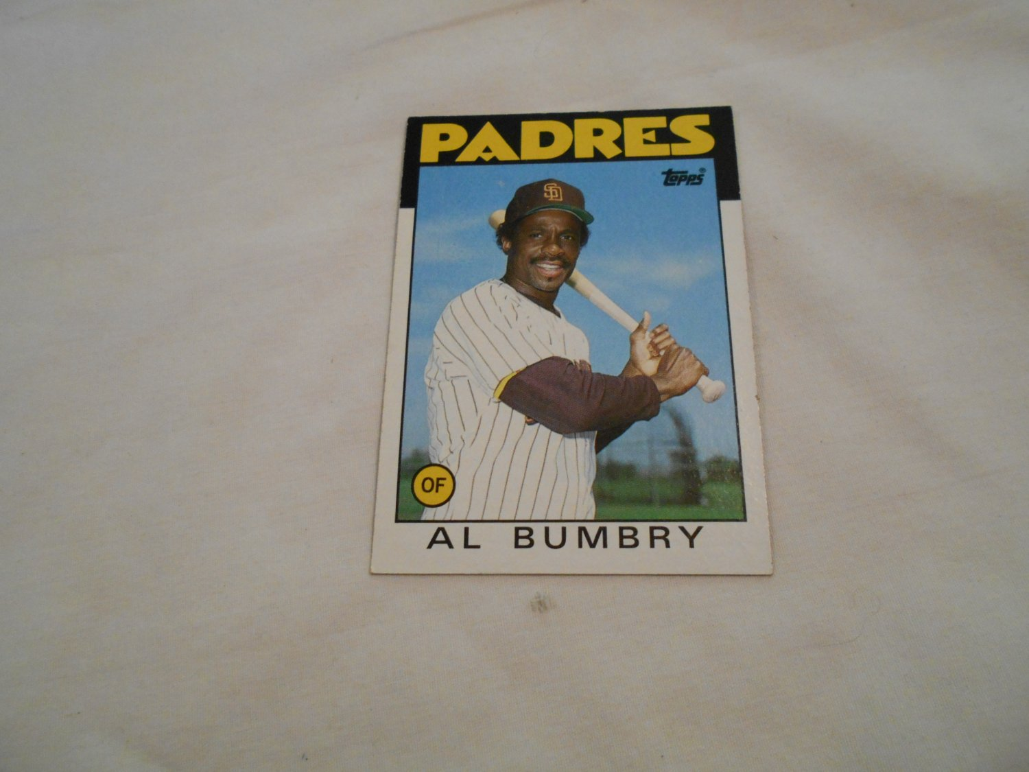 Al Bumbry San Diego Padres 583 1986 Topps Chewing Gum Baseball Card