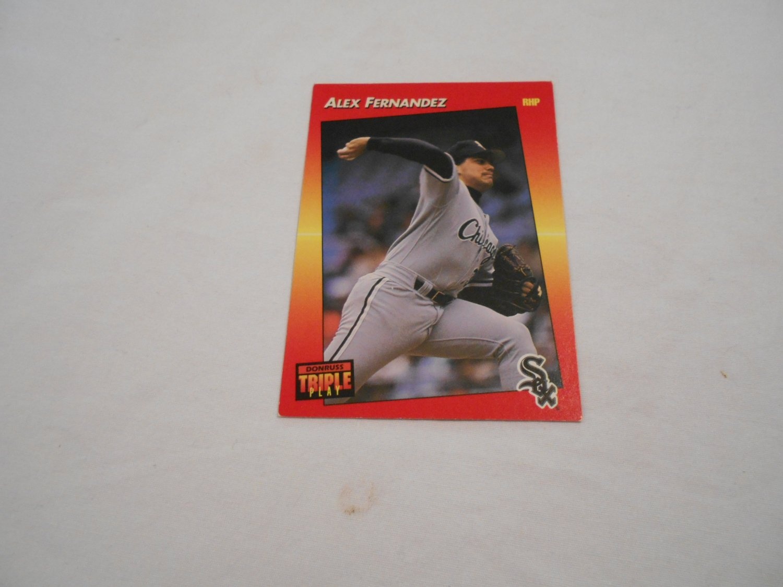 Alex Fernandez Chicago White Sox 74 1992 Donruss Triple Play Leaf