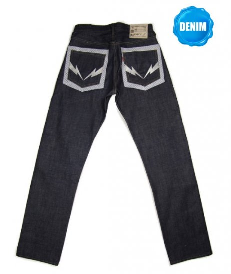 HED217 Unwashed Selvedge Denim with High Fashion Dots