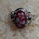 Art Paint Red Stone Ring by handmade