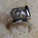 Balck&Brown Stone Ring by handmade 1