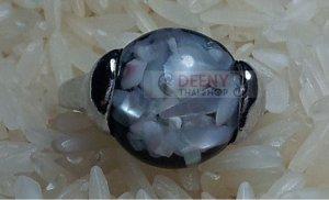 Black&White Stone Ring by handmade
