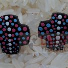 Art painting kala earring by handmade 1