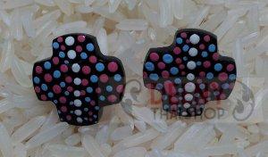 Art painting kala earring by handmade 1