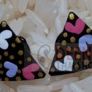 Heart art painting kala earring by handmade