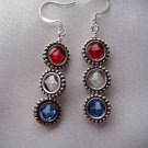 SWAROVSKI CRYSTAL EARRINGS HAND BEADED NEW