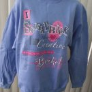 JERZEES MEDIUM BLUE SWEATSHIRT FOR THE SCRAPBOOKER SIZE SMALL NEW
