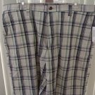 IZOD MADRAS FLAT FRONT NAVY/GREEN (WARM PEA) PLAID MEN'S SHORTS SIZE 38W NWT