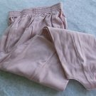 STIRRUP PANTS BRIDAL ROSE COLOR (Light Dusty Pink) SIZE LARGE PETITE NEW