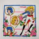 THE ROSE OF VERSAILLES LADY OSCAR NTV & RIYOKO IKEDA COTTON HANDHKERCHIEF FAZZOLETTO COTTONE