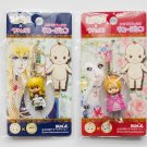 THE ROSE OF VERSAILLES LADY OSCAR KEWPIE PHONE STRAPS CHAIN 2008 NEW SEALED
