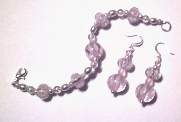 Pink Dream Bracelet & Earring Set