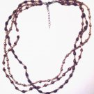 Brown 3 strand necklace
