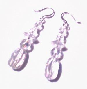 Clear Dangle Earrings