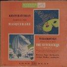 Khatchaturian Masquerade, Tchaikovsky Nutcracker Suite 2 RCA Victor LP