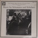 Music by Schumann and Schubert - Chamber Music Society of Lincoln Center LP MHS 4299