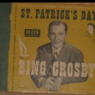 """Bing Crosby - St. Patrick's Day - Decca Records 5 10"""" Record Set Rare A-495"""