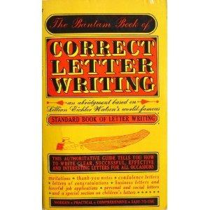 The Bantam Book of Correct Letter Writing - Bantam books 1983