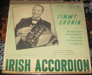 Timmy Cronin - Irish Accordion - Rare Avoca 33-AV-111