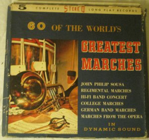 60 of the World's Geratest Marches - 5 LP Set -  SF-101