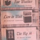 The Detective Book Club - 3 in 1 Book - After The Fine Weather, Lion In Wait, The Big H - 1963