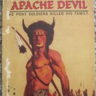 Apache Devil - Edgar Rice Burroughs - Ballantine Books Authorized 1st Printing Paperback 1964