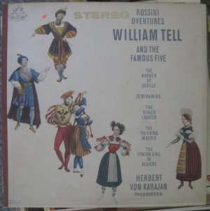 William Tell and the Famous Five - Rossini Overtures - Angel Records LP 35890