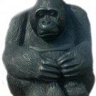 African wooden Sculpture of a mountain gorilla