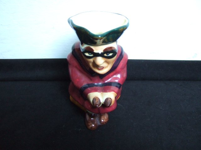 Masked Burleigh Ware Mug 6 Inches Tall Made In England
