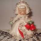 1958 Holt Howard Ceramic Christmas Angel Candle Holder 4 Inches Tall