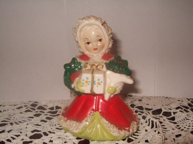 Unmarked Ceramic Christmas Angel 4 Inches Tall Made In Japan?