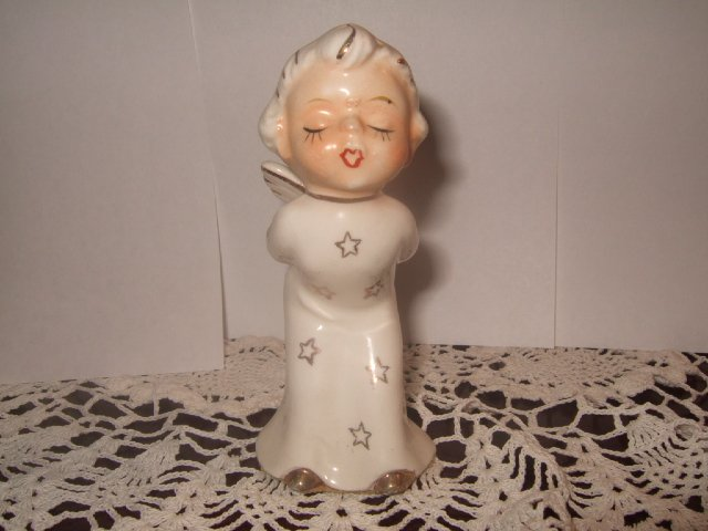 Napco Christmas Boy Angel About 4 Inches Tall