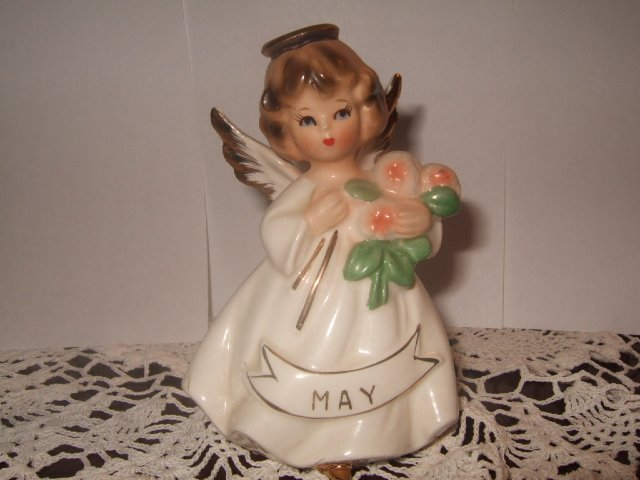 Enesco Girl Angel Figurine May #2 4 Inches Tall