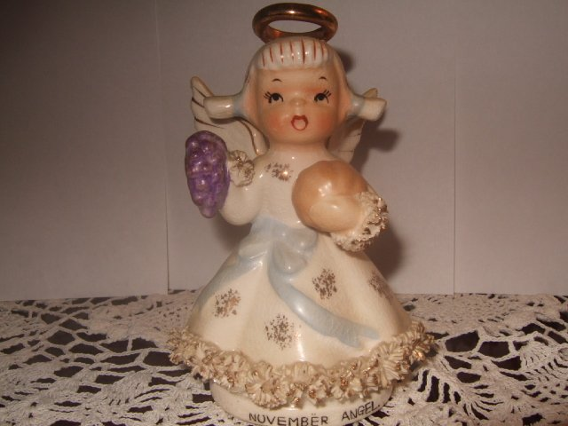 Lefton China November Angel 4 Inches Tall