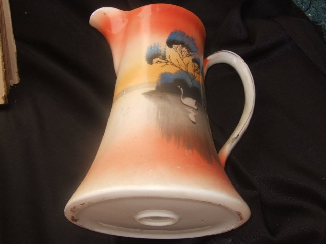 Very Attractive Made In Japan Hand Painted Pitcher 8 Inches Tall