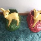 Pair of Shawnee Deer Figurines/Planters #624