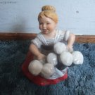Goebel West Germany Beer Lady Music Box 6.5 Inches Tall