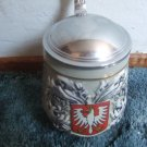Original King #406 Beer Stein With Frankfurt Coat Of Arms