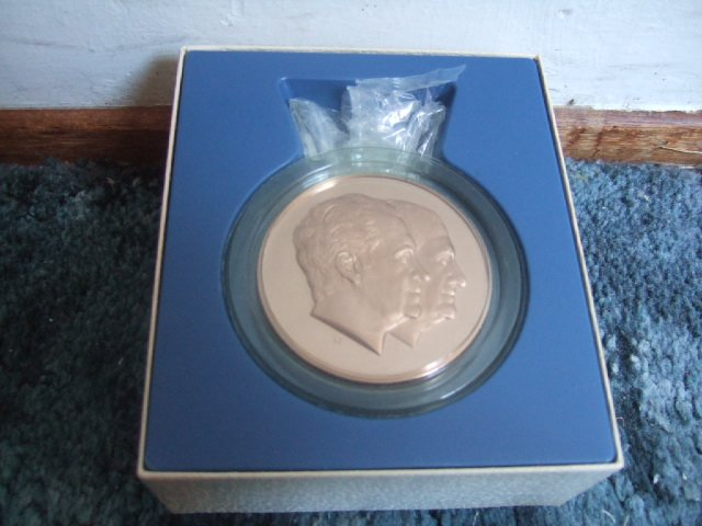 Richard Nixon/Spiro Agnew Franklin Mint Inauguration Medal 1973
