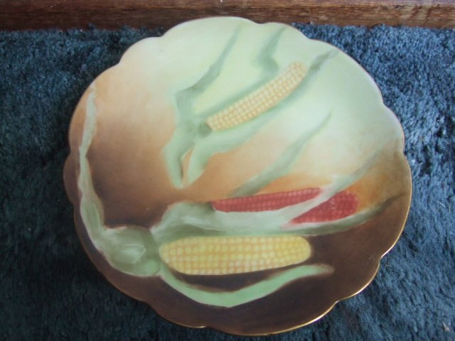 Rosenthals Bavaria Ears Of Corn Hand Painted Plate