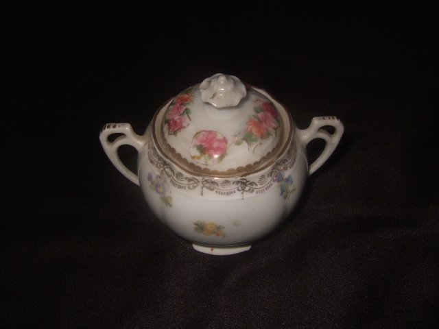 Cute Neu-Meissen Creamer With Floral Design And Gold Trim